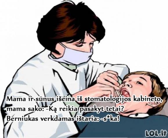 Padėka stomatologui