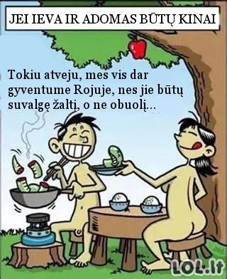 Jei Adomas ir Ieva būtų kiniečiai...