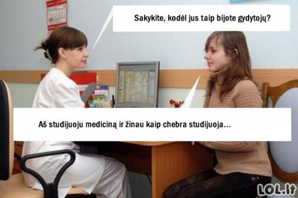Kodėl žmonės bijo gydytojų?