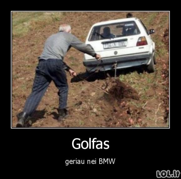 Golfas vs BMW