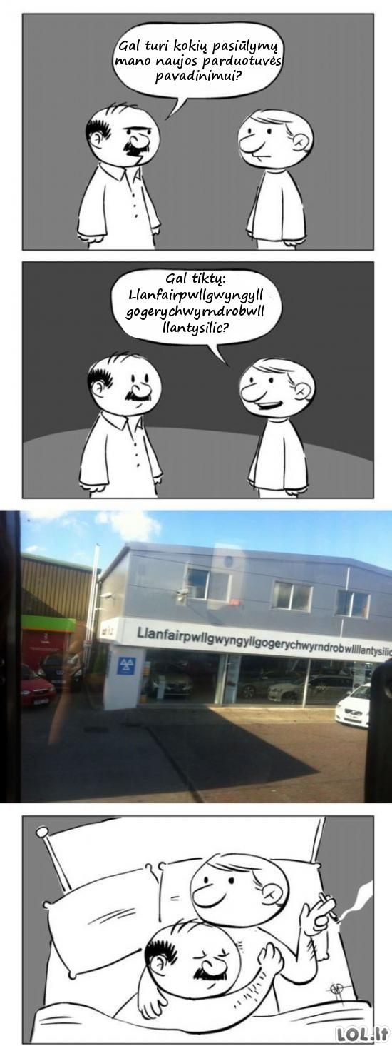 Kaip sugalvojami parduotuvių pavadinimai?