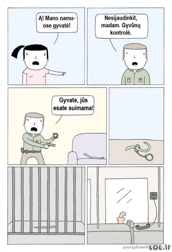 Ir gyvatės turi jausmus...