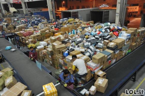 Kinijos paštas iš vidaus