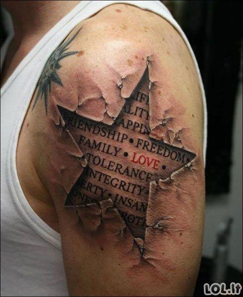 Įspūdingos trimatės tatuiruotės