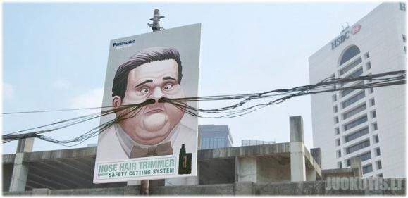 Įdomi lauko reklama