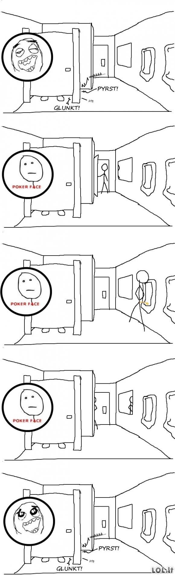 Kai tuštiniesi viešame tualete