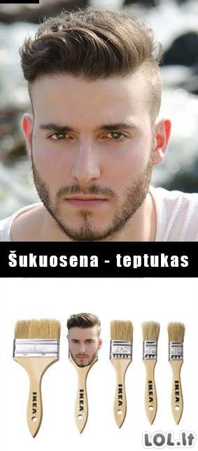 POP vyriška šukuosena