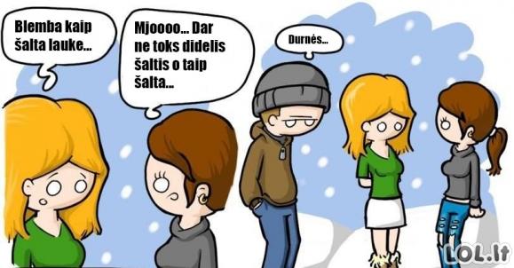 Žiauriai šalta žiema