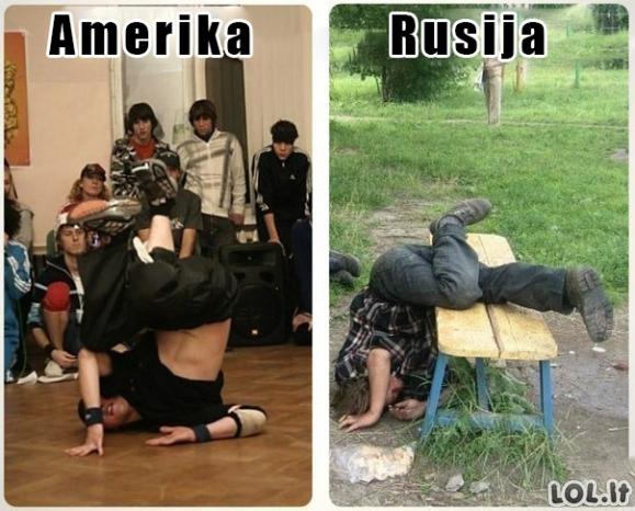 Breakdance Amerikoje ir Rusijoje
