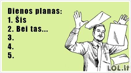 Mano dienos planas
