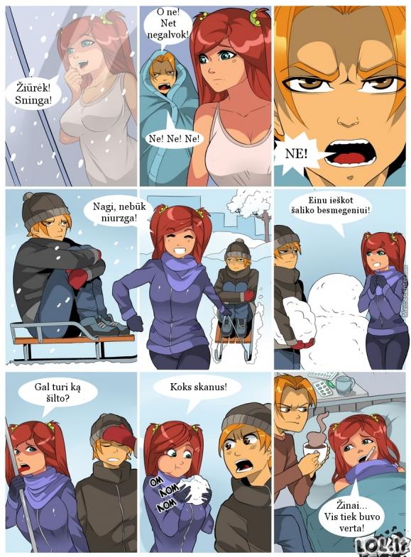 Kai pasiilgsti sniego...