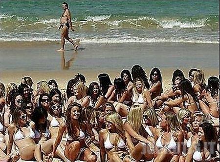Panelės su bikiniais