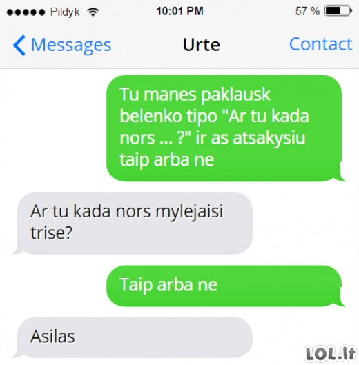 Pusdurnio draugo SMS