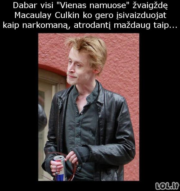 Kaip iš tiesų dabar atrodo Macaulay Culkin?