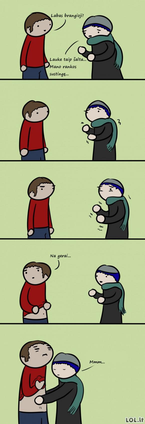 Kodėl gera turėti mylimąjį žiemą?