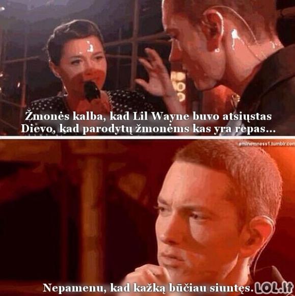 Kaip Eminemas žurnalistę suvartė...