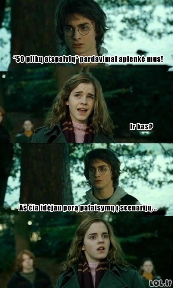 """Harrio Poterio atsakas """"50 pilkų atspalvių"""""""