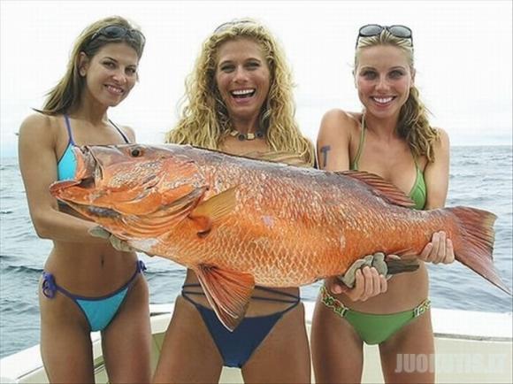 Štai kokios merginos žvejoja (25 nuotraukos)