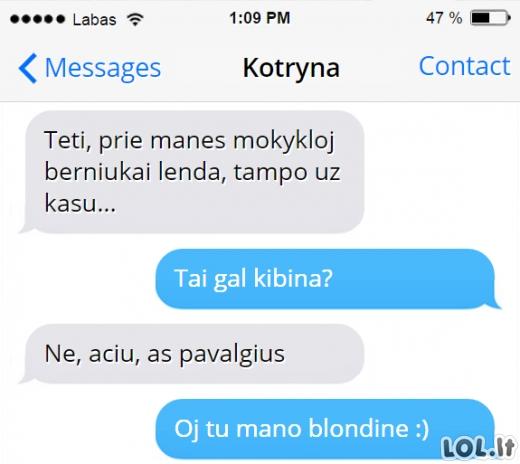 Kai tavo dukra - blondinė