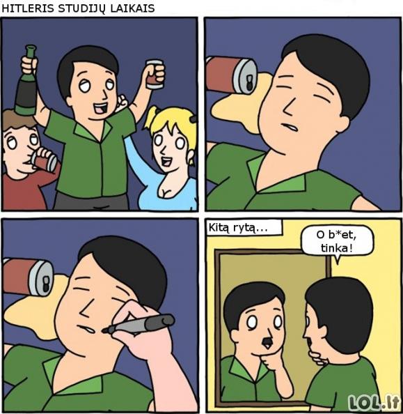 Kaip atsirado Hitlerio ūsai?