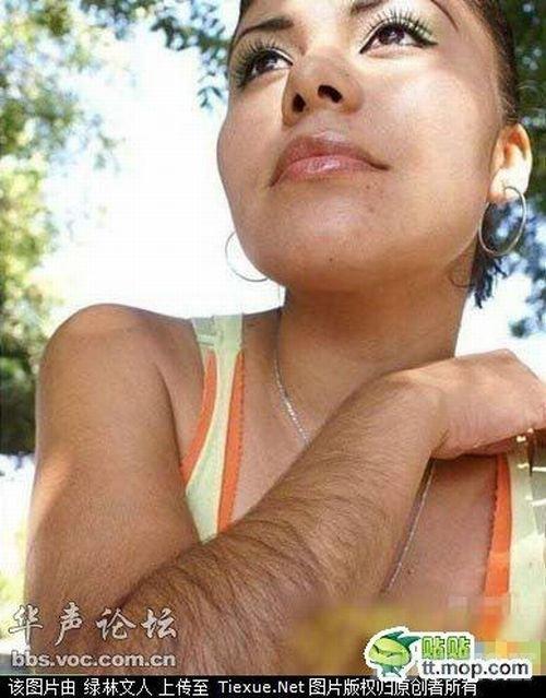 Merginos su plaukais ant rankučių :) (5 nuotraukos)