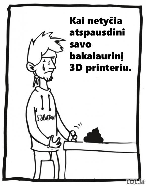 Dar vienas 3D spausdintuvo panaudojimo būdas