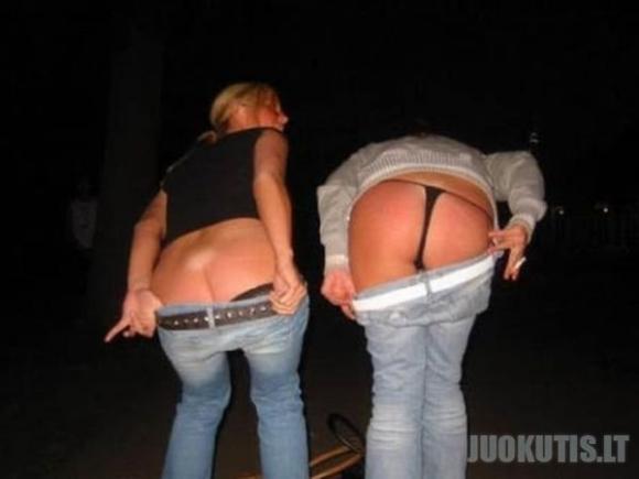 Merginos rodo užpakaliuką