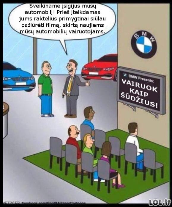 Instruktažas BMW vairuotojams