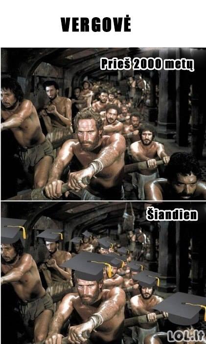 Vergovės pokyčiai