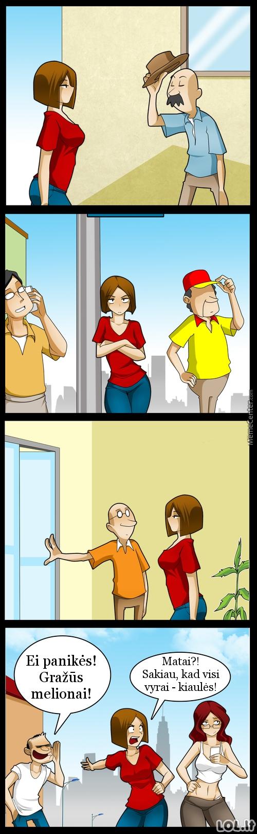 Koks yra moterų požiūris į vyrus?