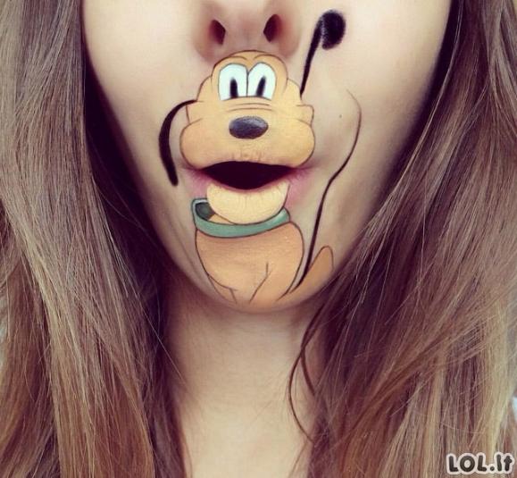 Fantastiški piešiniai ant lūpų