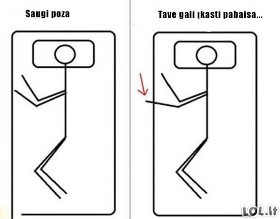 Saugaus miego instrukcija
