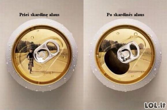 Kaip alus veikia matomumą
