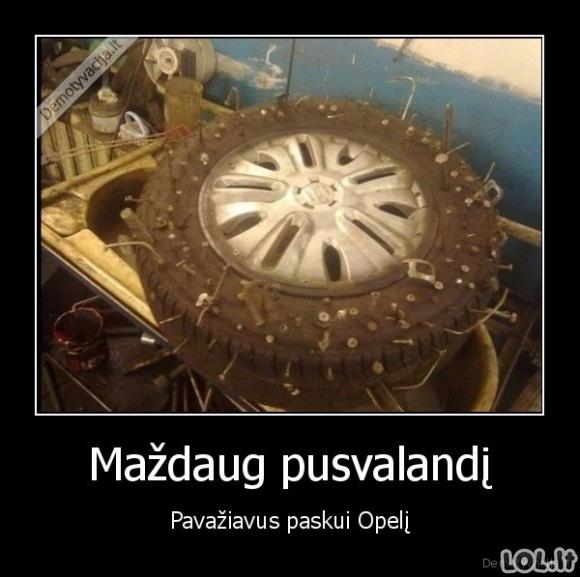 Kai seki Opelį...