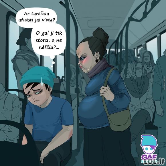 Tas nejaukus momentas autobuse...