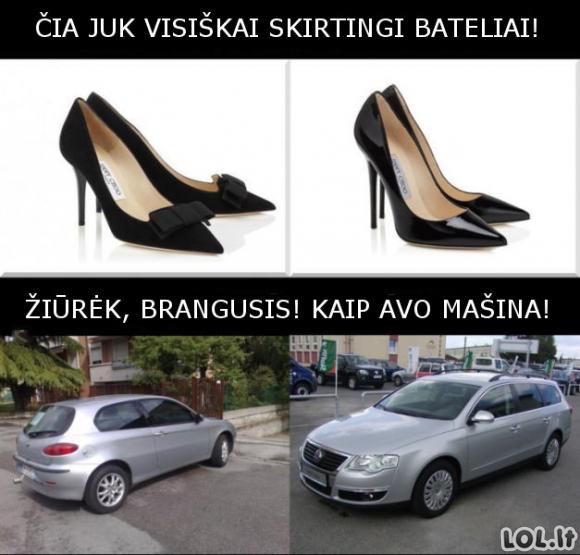 Panašumai ir skirtumai pagal moteris