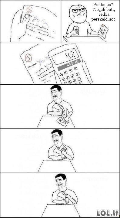 Kai nepasitiki mokytojos skaičiavimu