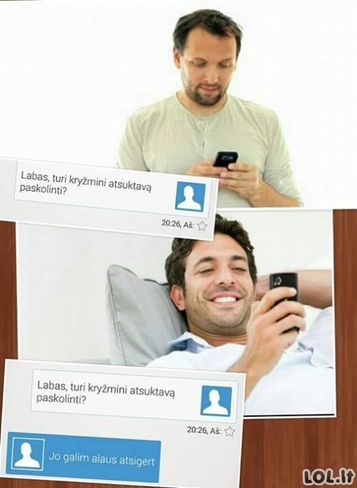 Kai gauni SMS iš geriausio draugo penktadienio vakarą