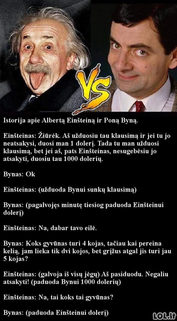 Kaip Bynas išdūrė Einšteiną...