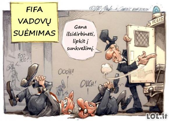 Kaip buvo suimami FIFA vadovai