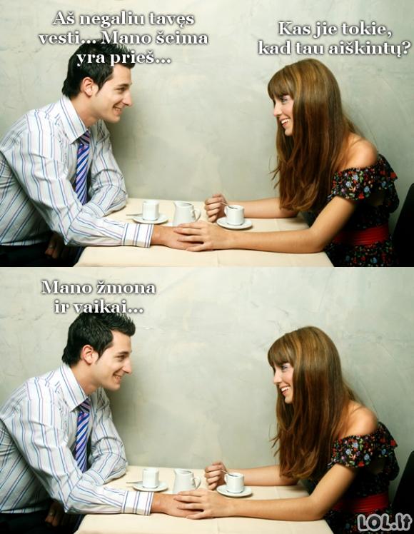 Kai santuokai prieštarauja šeima...