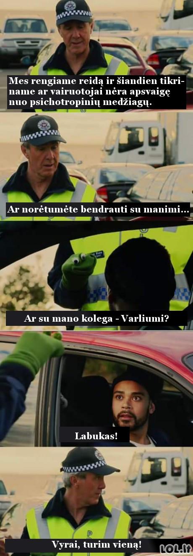 Netikėtas policijos reidas