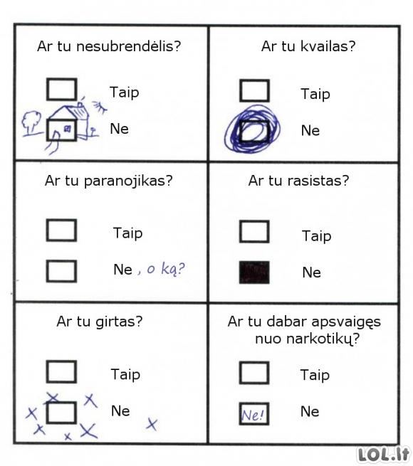 Sunkiausias testas