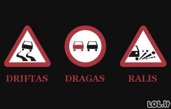 Kelio ženklų tikrosios prasmės