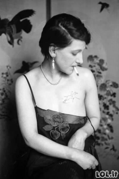 Tatuiruočių mada prieš 100 metų