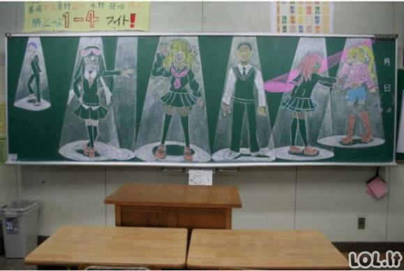 Menas ant klasių lentų