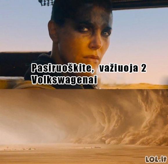 Kai pamatau mieste Volkswagenus