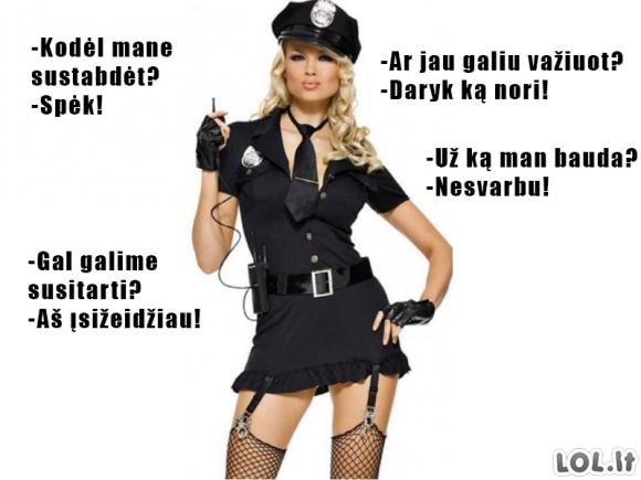 Moters-policinkės etikėtas