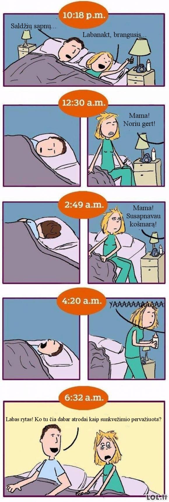 Naktinis mamos gyvenimas