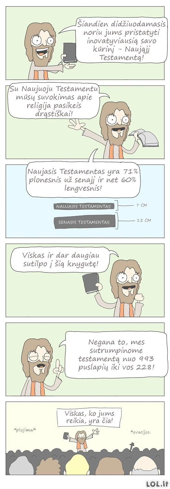 Jei Naujasis testamentas būtų parašytas šiais laikais